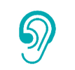 Icon of a hearing aid
